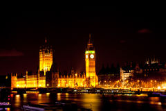 Big Ben at Night Stock Image