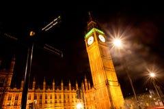 Big Ben at Night. Landscape of Big Ben at Night Royalty Free Stock Photos