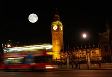 The Big Ben at night. In London UK Royalty Free Stock Images