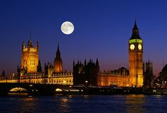 The Big Ben at night. In London UK Stock Photography