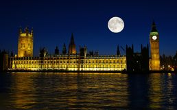 The Big Ben at night. In London UK Stock Images