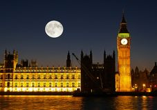 The Big Ben at night Royalty Free Stock Image