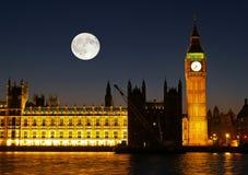 The Big Ben at night. In London UK Royalty Free Stock Image