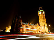 Big Ben at night Stock Images