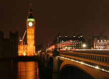 Big Ben at Night Stock Photography