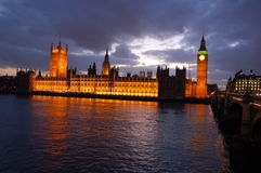Big Ben by night Stock Images
