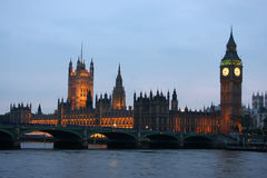 Big Ben at Night. Is shown here stock photo