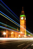Big Ben Night light stripe Royalty Free Stock Image