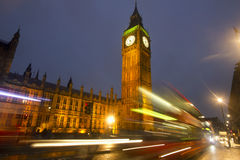 Big Ben at Night in London Stock Photo