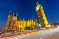 Big Ben at night, London Stock Photos