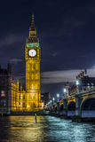 Big Ben by night. In London Royalty Free Stock Photography