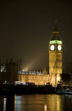 Big Ben at Night in London Stock Photo
