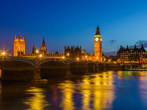 Big Ben at night, London Royalty Free Stock Photography