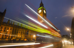 Big Ben at Night in London Stock Images