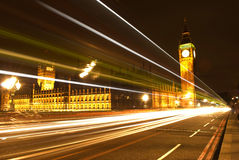 Big Ben at night London UK Stock Photos