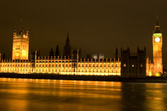 Big Ben at night London UK Royalty Free Stock Photo
