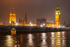 The Big Ben at night, London, UK. Stock Image