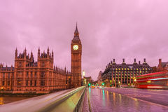 Big Ben at night in London Royalty Free Stock Image
