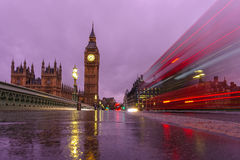 Big Ben at night in London Royalty Free Stock Photos