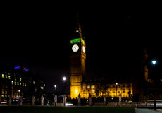 Big ben at night london uk Royalty Free Stock Images