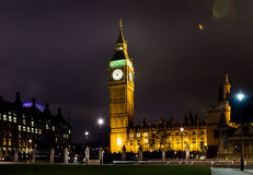 Big ben at night london uk Stock Photo