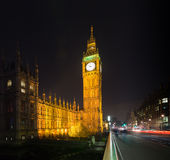 Big ben at night london uk Royalty Free Stock Image