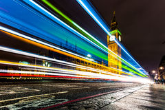 Big Ben at night time. Stock Photos