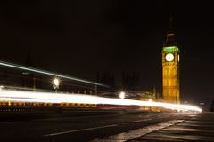 Big Ben & night traffic Royalty Free Stock Image