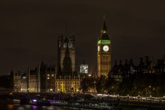 Big ben night view Stock Photography