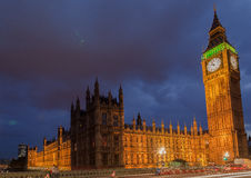 Big Ben noc Londyn Zdjęcia Royalty Free