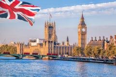 Big Ben och hus av parlamentet i London, UK Royaltyfri Fotografi