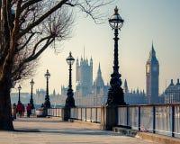Big Ben och hus av parlamentet, London Arkivbilder