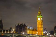 Big Ben och hus av parlamentet, London arkivfoto