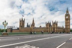 Big Ben och hus av parlamentet, London, UK Arkivbild