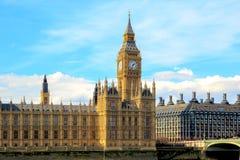 Big Ben och hus av parlamentet, London, UK Royaltyfria Bilder
