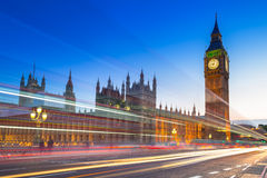 Big Ben och slott av Westminster i London Arkivfoton