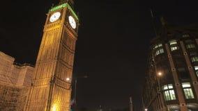 Big Ben och trafik stock video