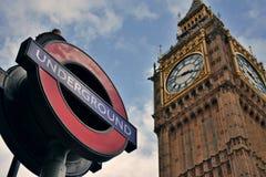 Big Ben ondergronds Royalty-vrije Stock Foto