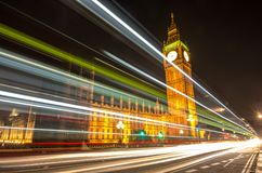 Big Ben, one of the most prominent symbols of both London and England, royalty free stock photo