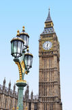Big Ben with an ornate lamp Royalty Free Stock Photo