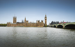 Big Ben over the Thames River. Big Ben and Houses of Parliament, London, UK Royalty Free Stock Images