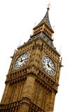 Big ben over white Stock Photo