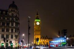 Big Ben på natten, London, UK Royaltyfri Bild