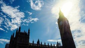 Big Ben på solig dag arkivfoto