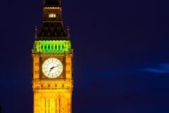 Big Ben på natten Arkivfoton