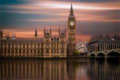 Big Ben, palácio de Westminster (casas do parlamento) Fotografia de Stock