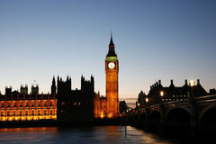 Big Ben and Palace of Westminster Royalty Free Stock Images