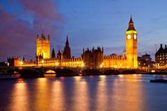 Big Ben and Palace of Westminster Royalty Free Stock Image