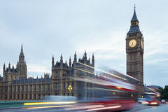 Big Ben and Palace of Westminster in the early morning Stock Photos