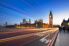 Big Ben and Palace of Westminster in London at night. UK Royalty Free Stock Photo